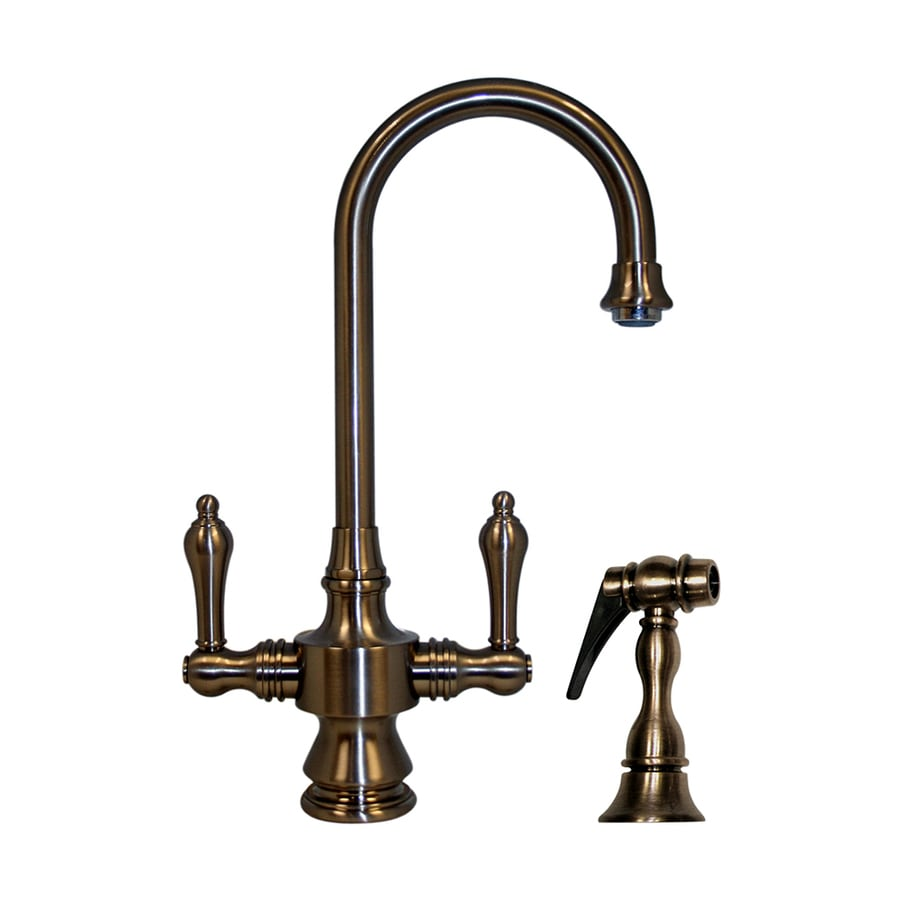 Whitehaus Collection Vintage III Pewter 1-Handle Kitchen Faucet
