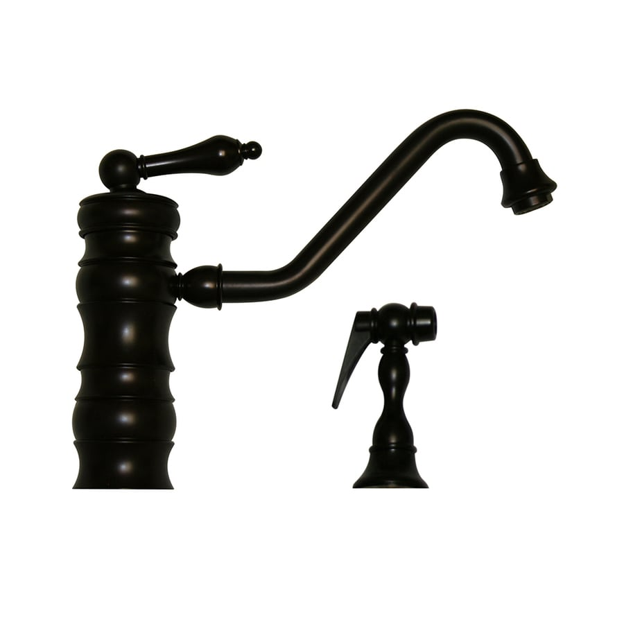 Whitehaus Collection Vintage III Oil Rubbed Bronze 1-Handle Low-Arc Kitchen Faucet