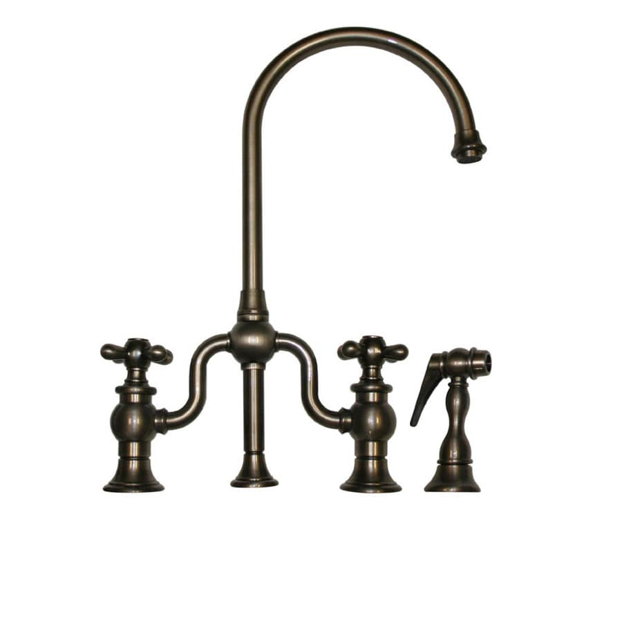 Low Arc Kitchen Faucet Shop Whitehaus Collection Twisthaus Pewter 2 Handle Low Arc