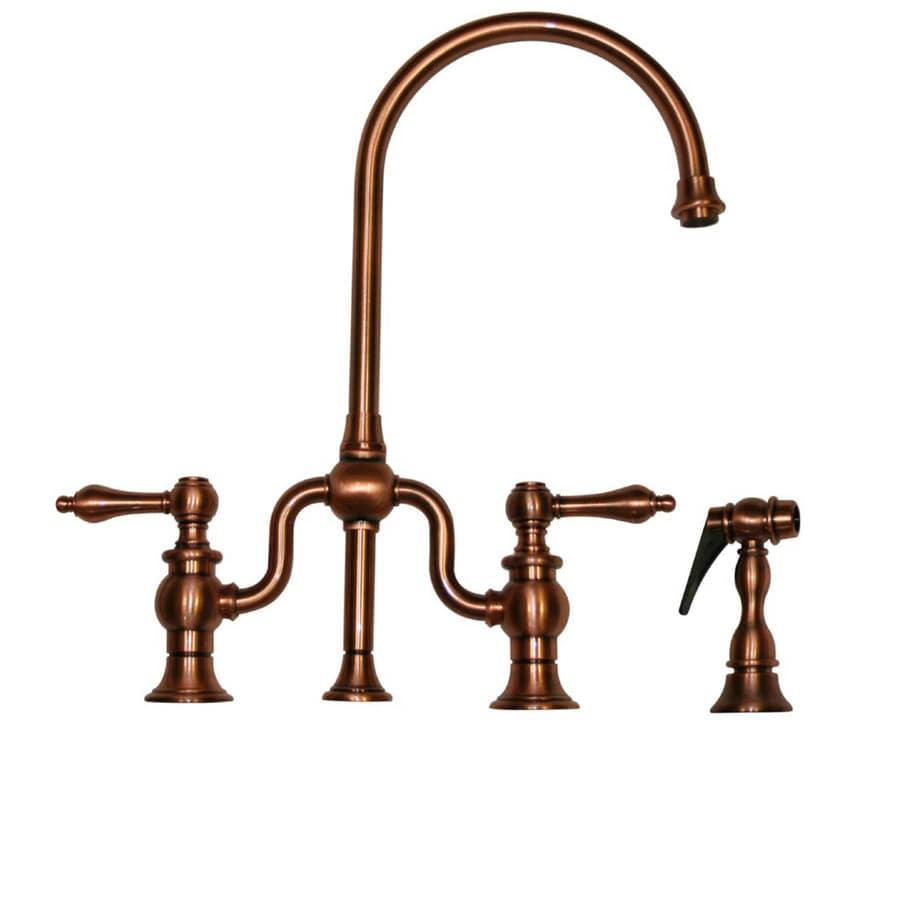 Whitehaus Collection Twisthaus Antique Copper 2-handle Deck Mount High-Arc Kitchen Faucet