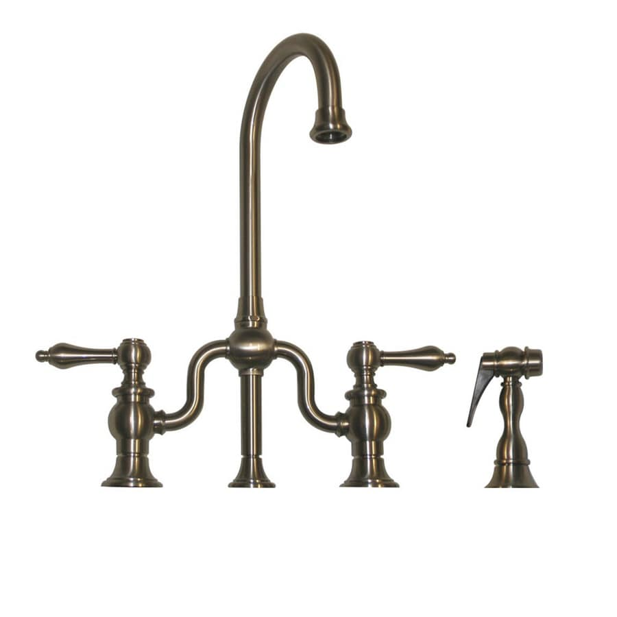Whitehaus Collection Twisthaus Brushed Nickel 2-Handle Bar Faucet with Side Spray