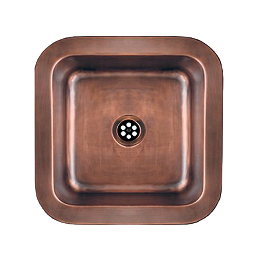 Shop whitehaus collection copperhaus hammered bronze - Copper drop in kitchen sink ...
