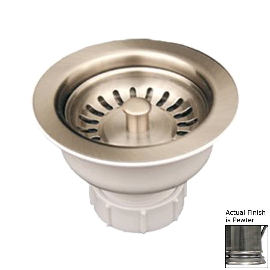 Whitehaus Collection Farmhaus Fireclay 4.375-in Pewter Brass Fixed Post Kitchen Sink Strainer