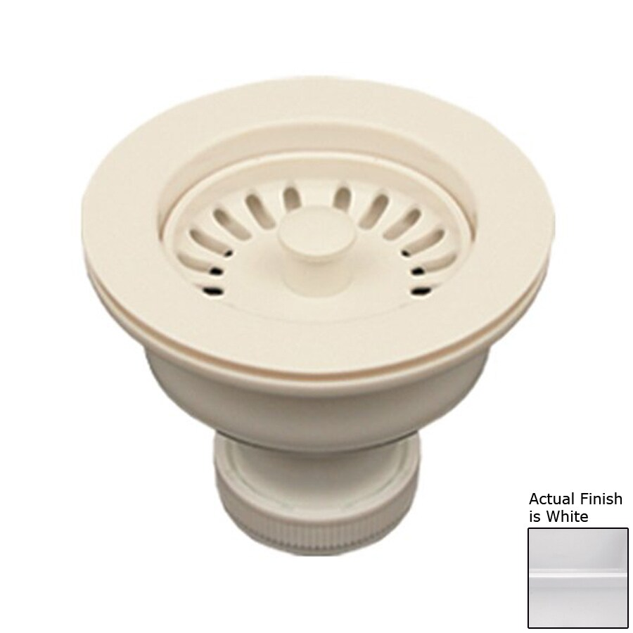 Whitehaus Collection 3.5-in White Plastic Fixed Post Kitchen Sink Strainer