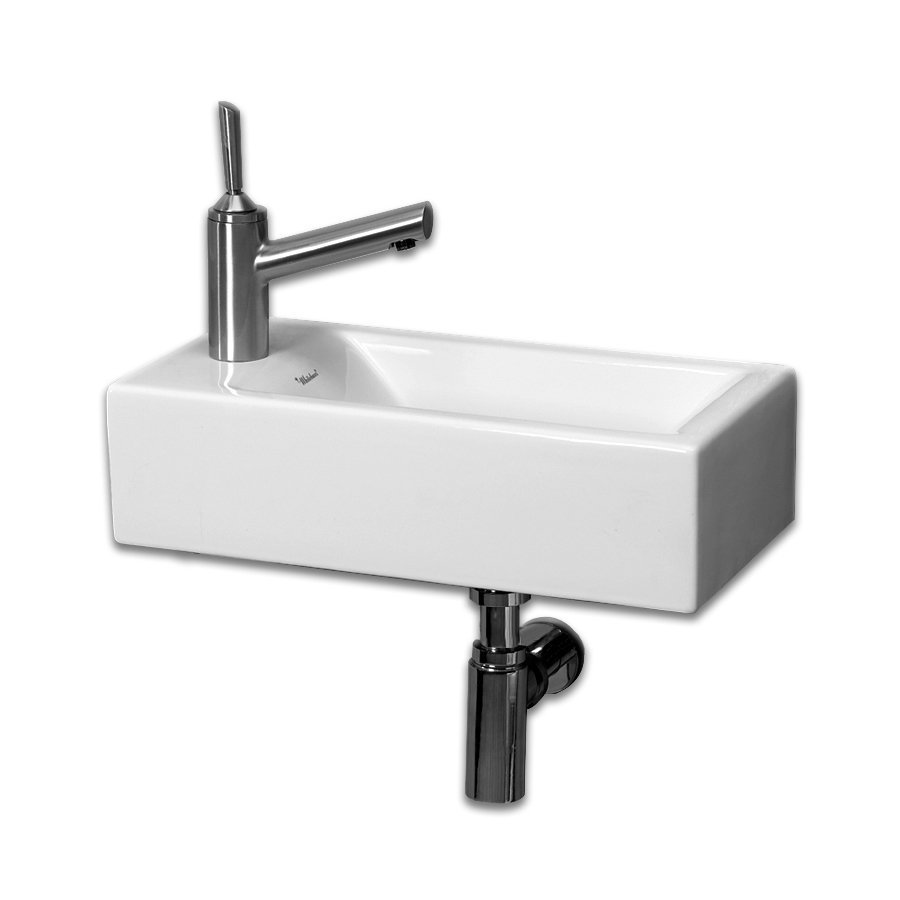 Whitehaus Collection Isabella White Wall-Mount Rectangular Bathroom Sink