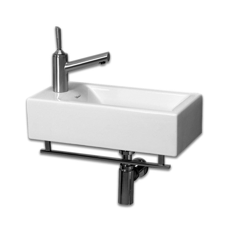 Whitehaus Collection Isabella White Wall-Mount Rectangular Bathroom ...