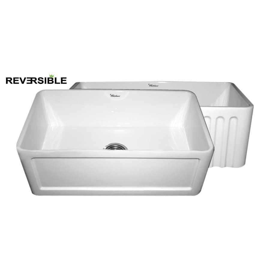 Kitchen Sink Sizes Lowes: Shop Whitehaus Collection Farmhaus 30-in X 18-in White