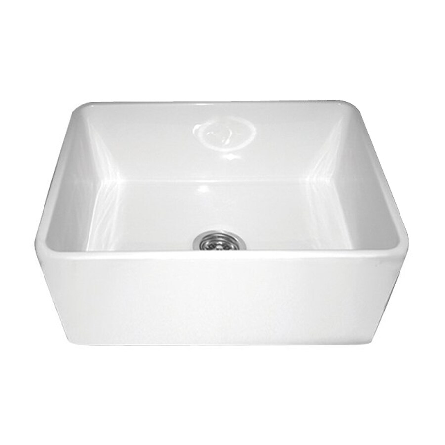 Fireclay Apron Sink : ... Single-Basin Fireclay Apron Front/Farmhouse Residential Kitchen Sink