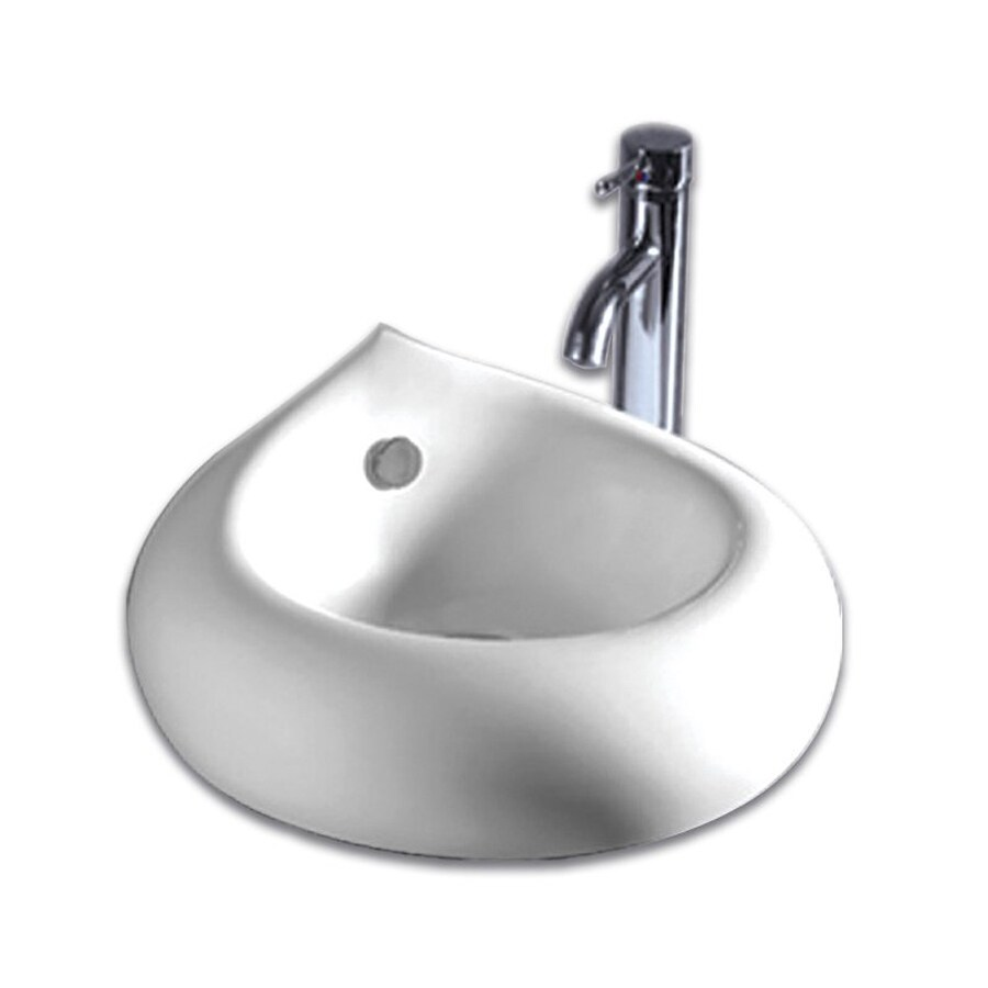 Whitehaus Collection Isabella White Vessel Bathroom Sink