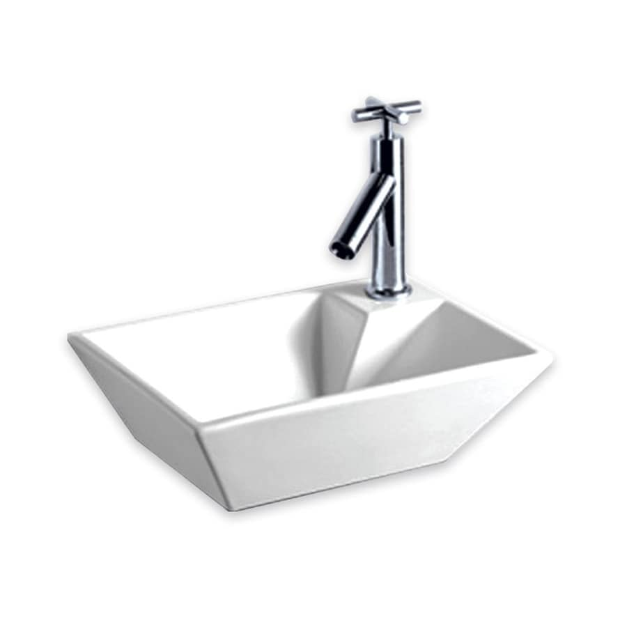 Whitehaus Collection Isabella White Wall-Mount Rectangular Bathroom Sink