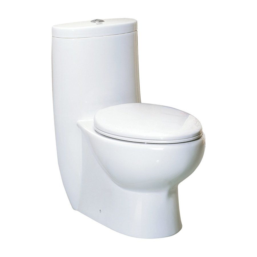 Whitehaus Collection Magic Flush 1.6-GPF (6.06-LPF) White WaterSense Dual-Flush Elongated Standard Height 1-Piece Toilet