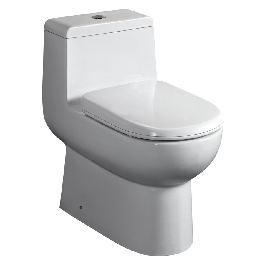 Whitehaus Collection Magic Flush 1.6-GPF (6.06-LPF) White WaterSense Dual-Flush Elongated Standard Height 1-Piece Toilet