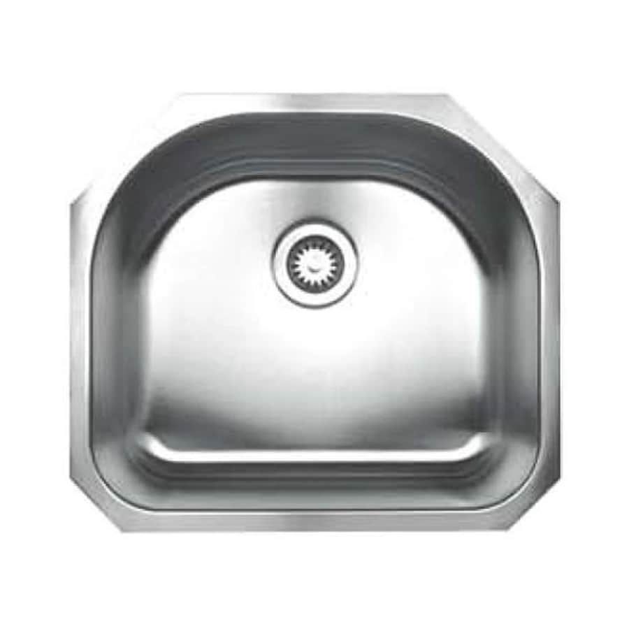 Whitehaus Collection Noah's 21-in x 23.25-in Brushed Stainless Steel Single-Basin Stainless Steel Undermount Residential Kitchen Sink