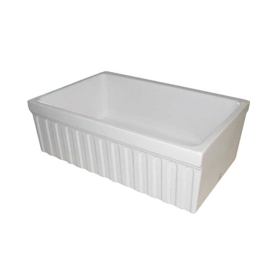 whitehaus collection farmhaus 20 in x 30 in white single basin fireclay apron - White Single Basin Kitchen Sink