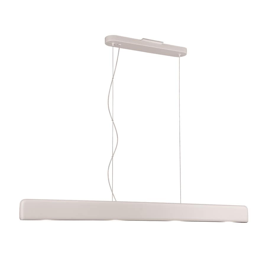 Philips Dolinea 51.1-in W 4-Light Matte White LED Kitchen Island Light