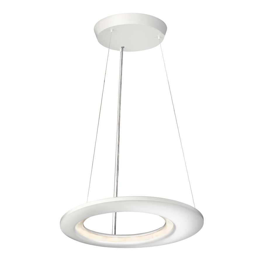 Philips Ecliptic 18.7-in Matte White LED Pendant