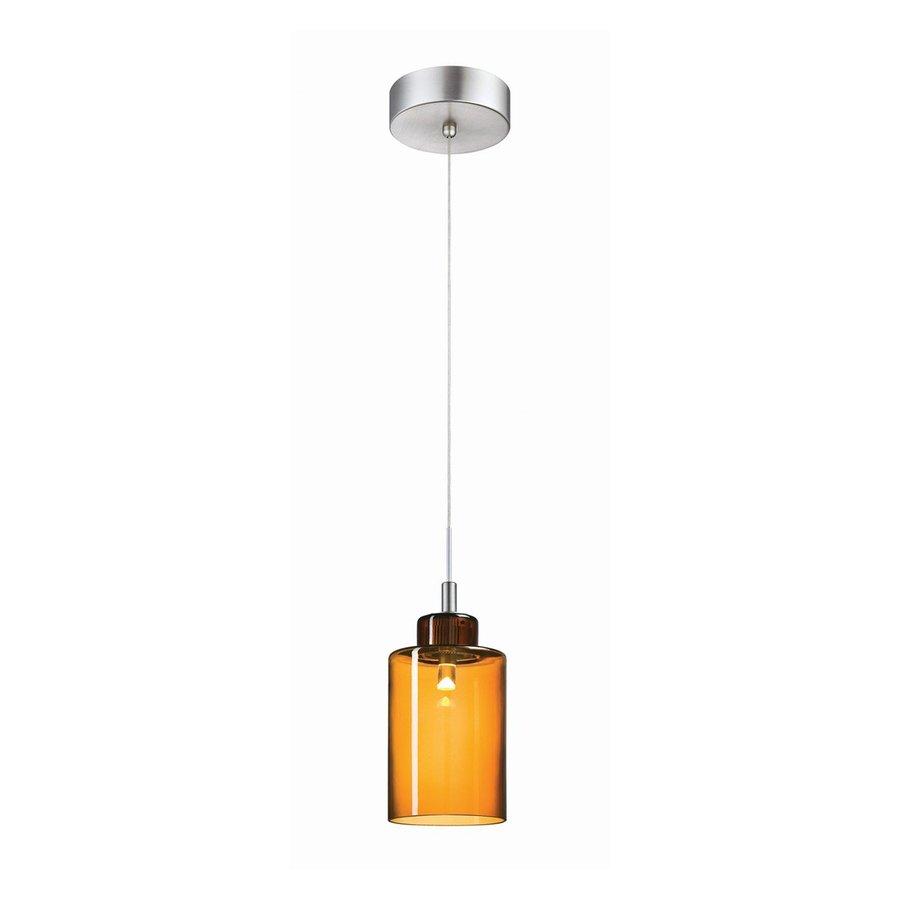 Philips Harmonize 4-in Satin Nickel Mini Tinted Glass Jar Pendant