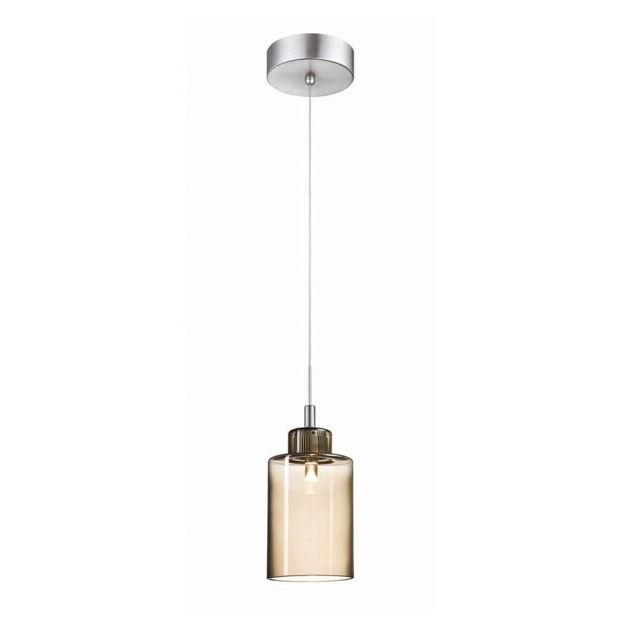 Perfect Philips Harmonize 4 In W Satin Nickel/Smoke LED Mini Pendant Light With  Tinted