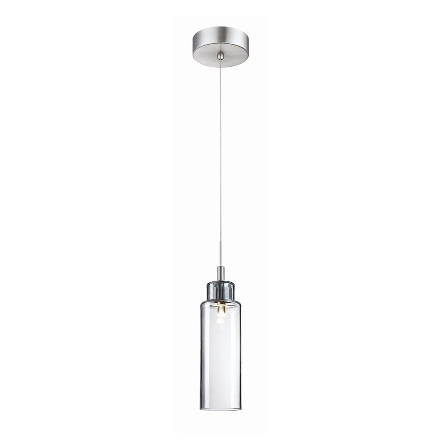 Philips Harmonize 3-in Satin Nickel Mini Clear Glass Jar Pendant