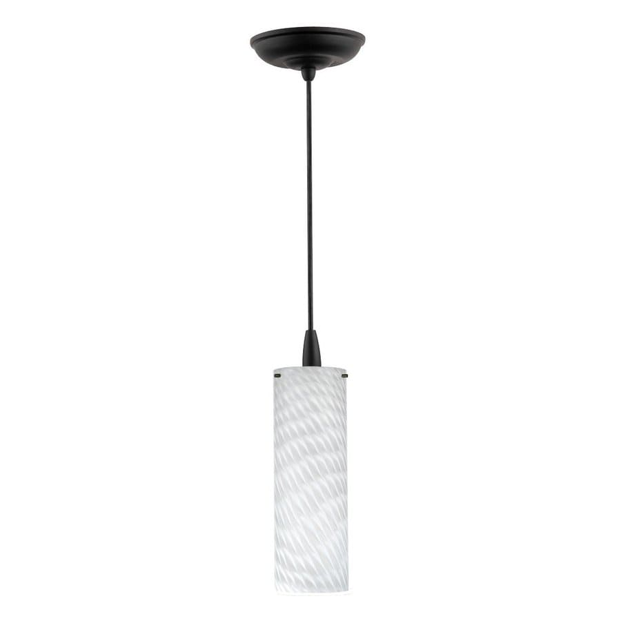 Philips Marta 3.5-in Black Mini Art Glass Cylinder Pendant