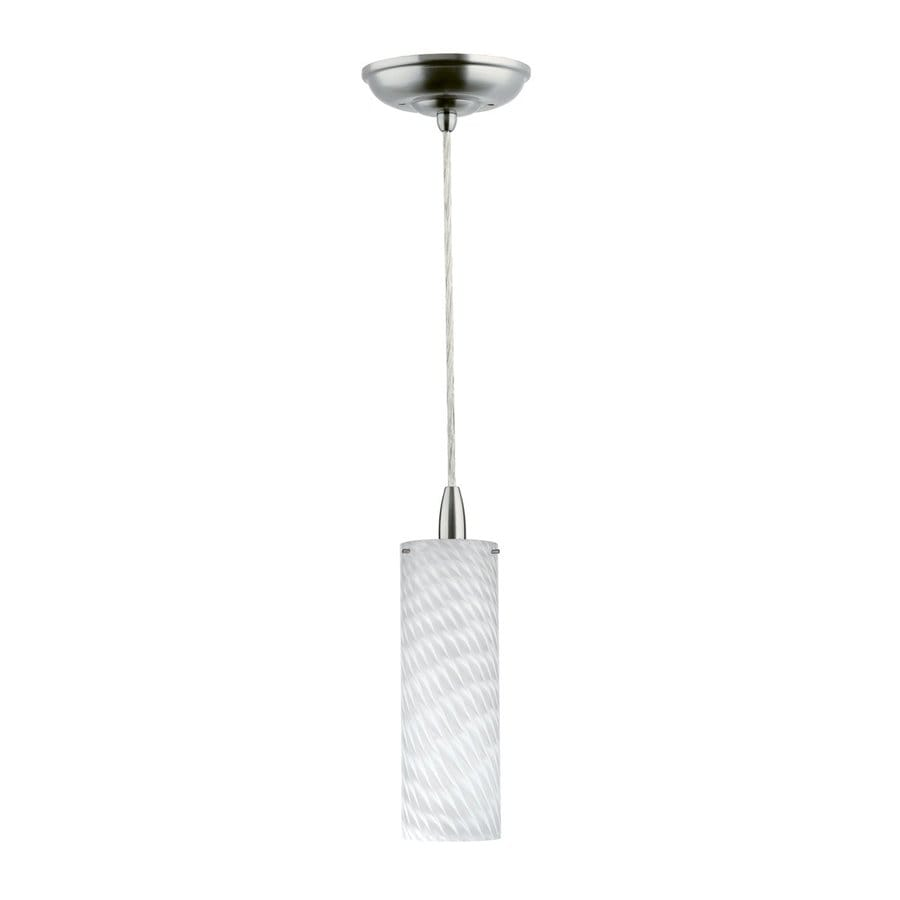 Philips Marta 3.5-in Satin Nickel Mini Art Glass Cylinder Pendant