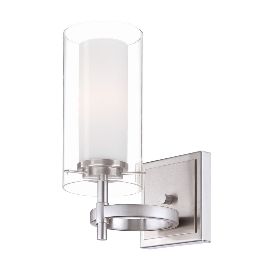 Philips Hula 4.5-in W 1-Light Satin Nickel Arm Wall Sconce