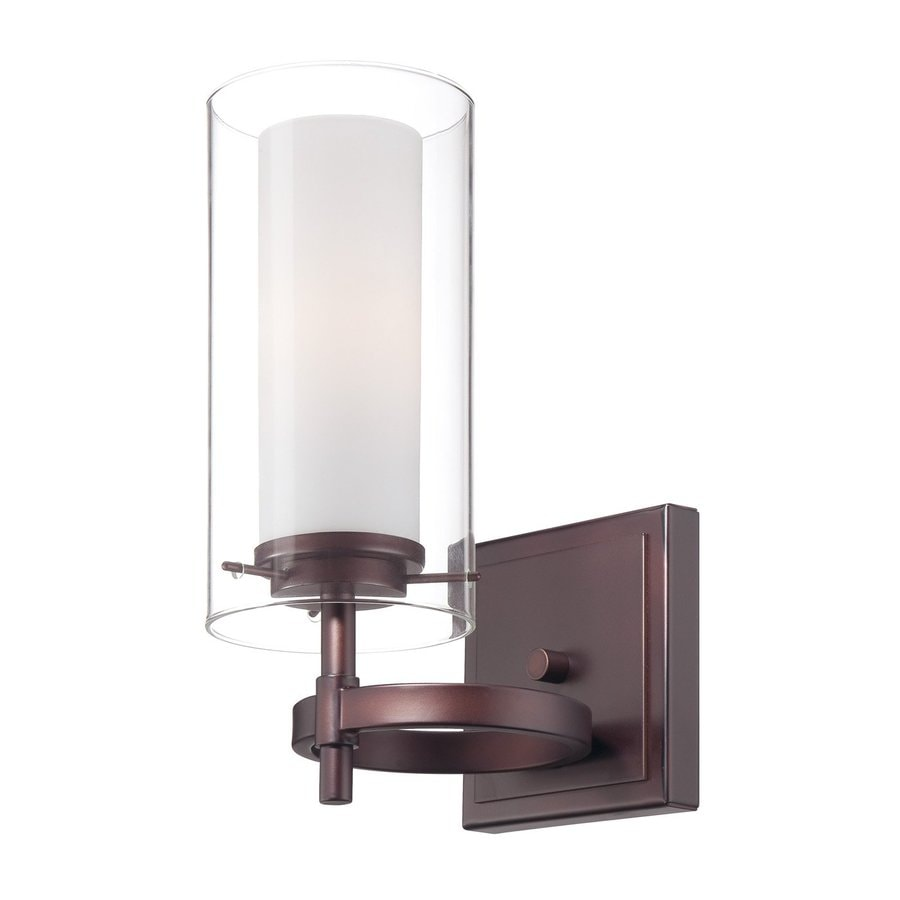 Philips Hula 4.5-in W 1-Light Merlot Bronze Arm Hardwired Wall Sconce