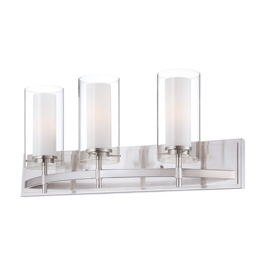 Philips Hula 3-Light 10-in Satin Nickel Cylinder Vanity Light