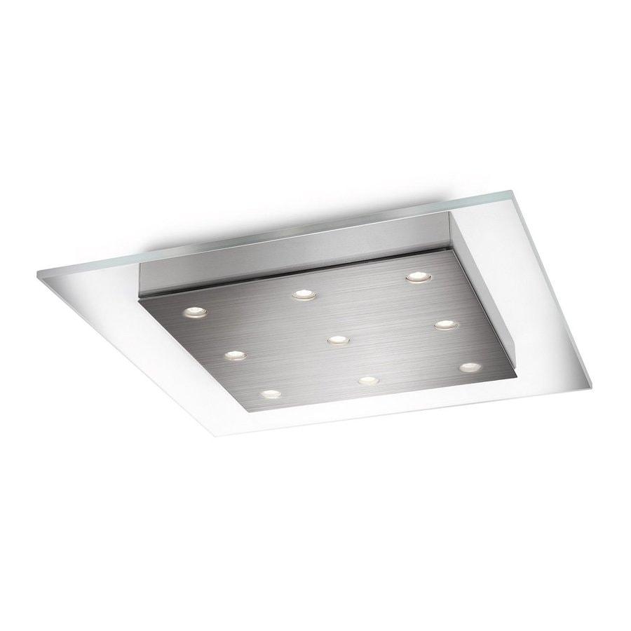 Philips Matrix 15-in W Brushed Nickel LED Flush Mount Light