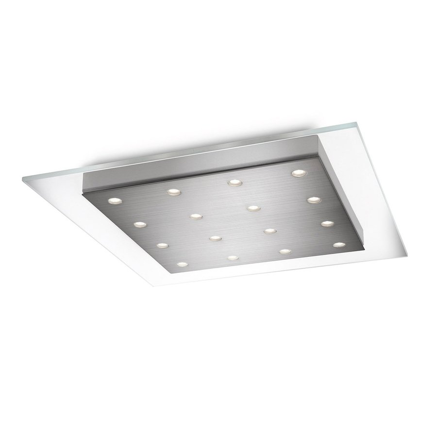 Philips Matrix 18.1-in W Brushed Nickel LED Flush Mount Light