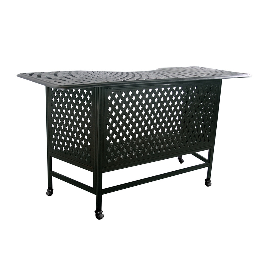 Darlee Series 60 Mocha Aluminum Patio Bar