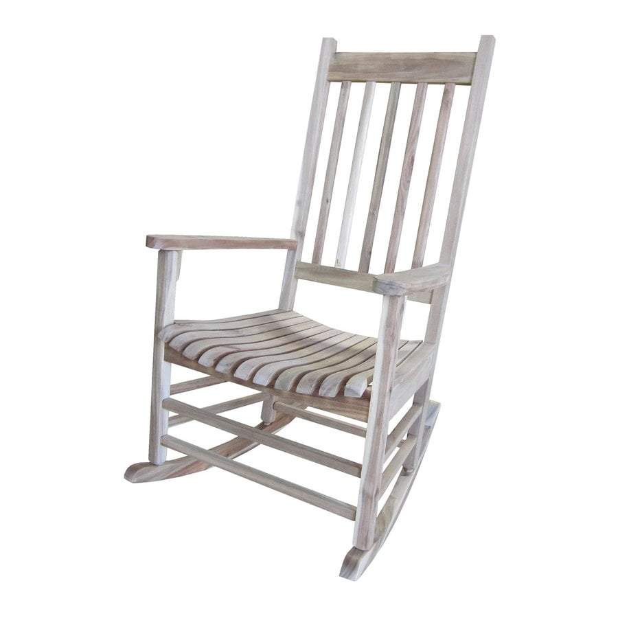 International Concepts Unfinished Acacia Patio Rocking Chair
