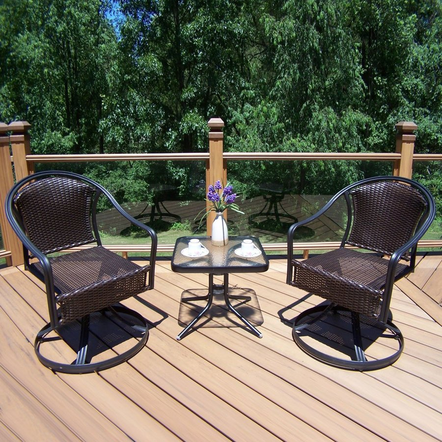 Oakland Living Tuscany 3-Piece Wicker Patio Conversation Set