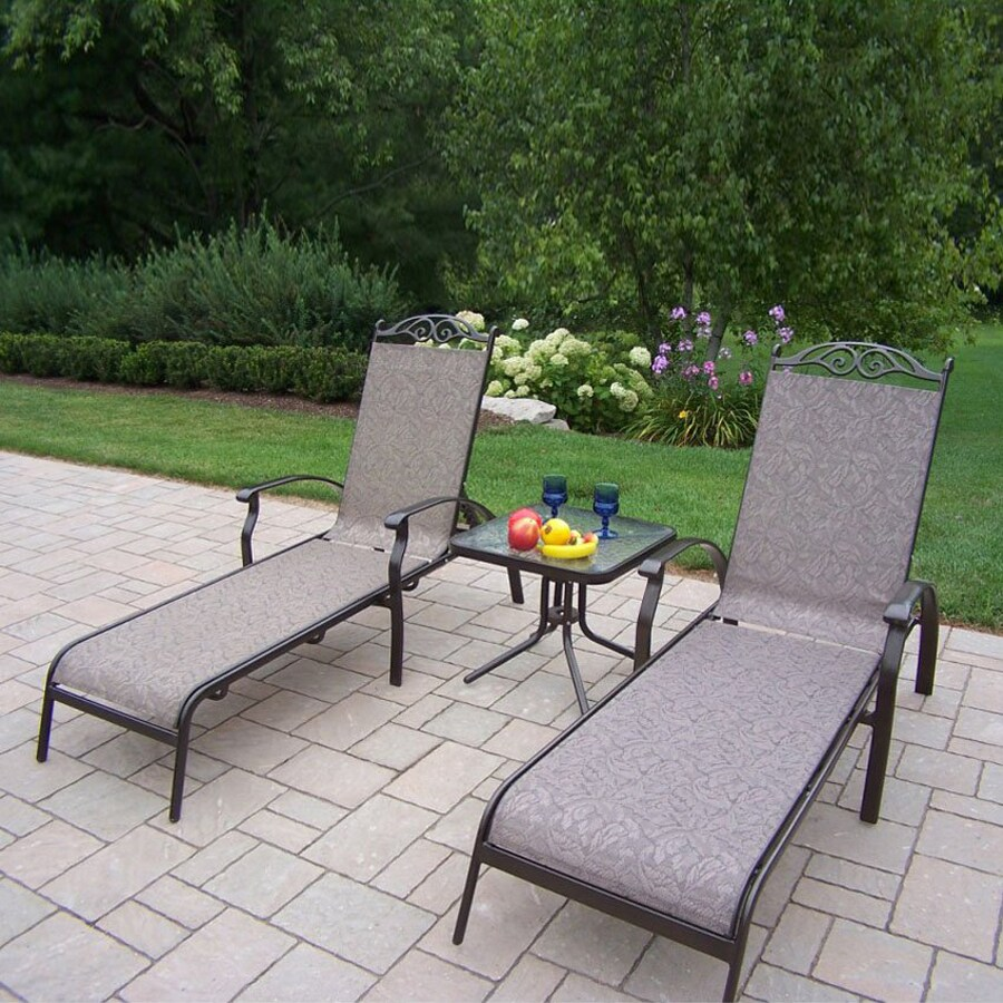 Oakland Living Cascade Sling 3-Piece Patio Conversation Set