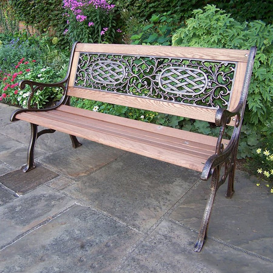Oakland Living Mississippi 25-in W x 50-in L Patio Bench