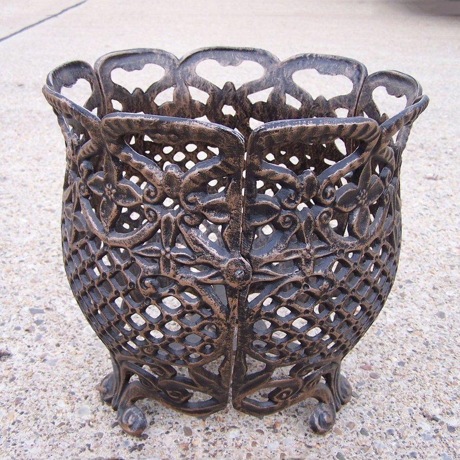 Oakland Living 12.5-in x 12.5-in Antique Bronze Metal Mississippi Urn