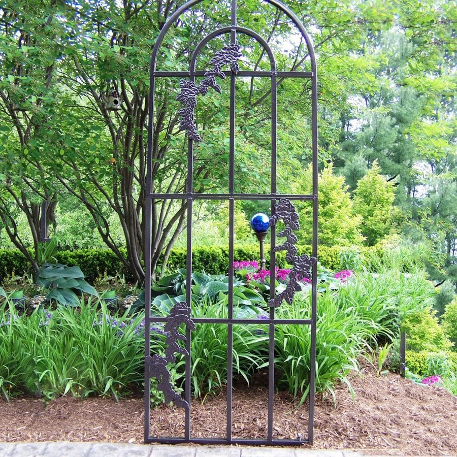 Oakland Living Tea Rose 18.75-in W x 78.5-in H Rose Garden Trellis