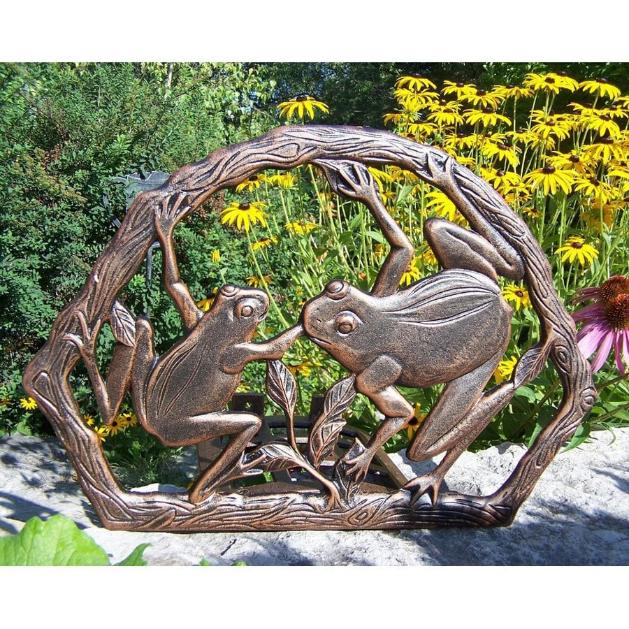 Oakland Living Antique Bronze Frog Wall-Mount Hose Reel