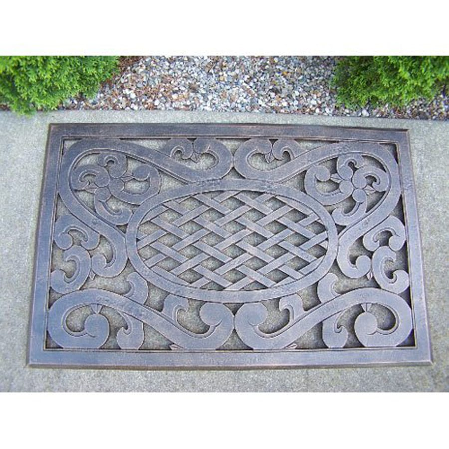 Oakland Living Antique Bronze Rectangular Door Mat (Common: 22-in x 34-in; Actual: 21.5-in x 34-in)