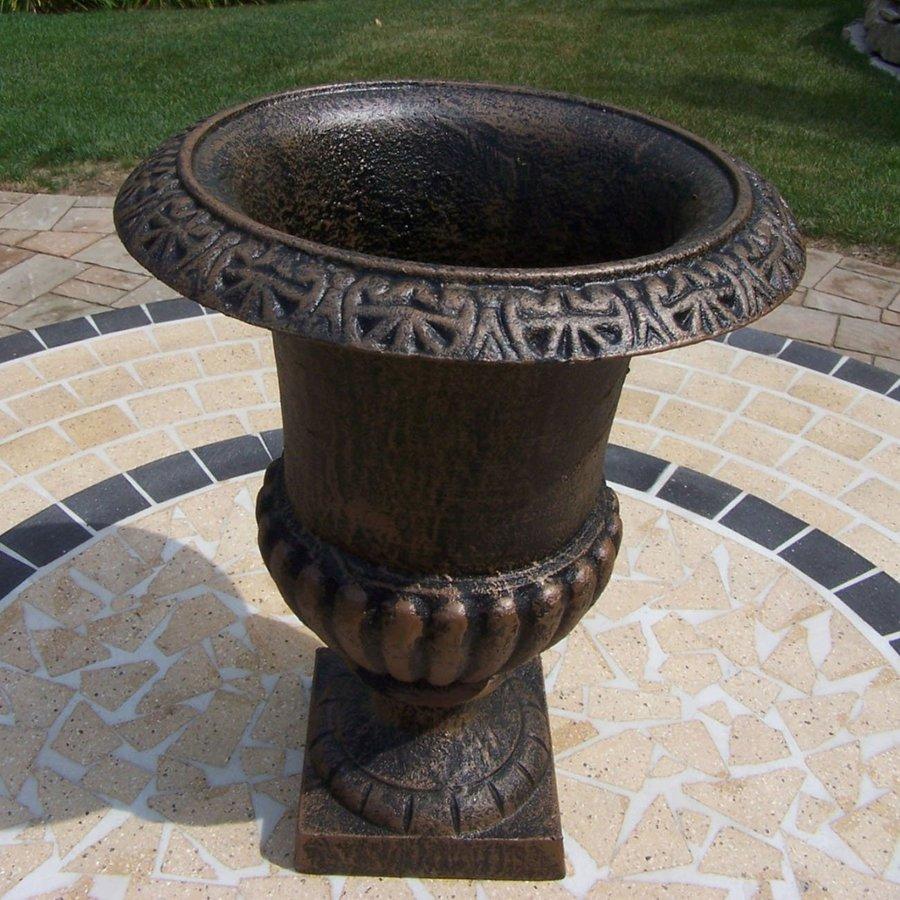 Oakland Living 12.75-in x 17-in Antique Bronze Metal Roman Urn