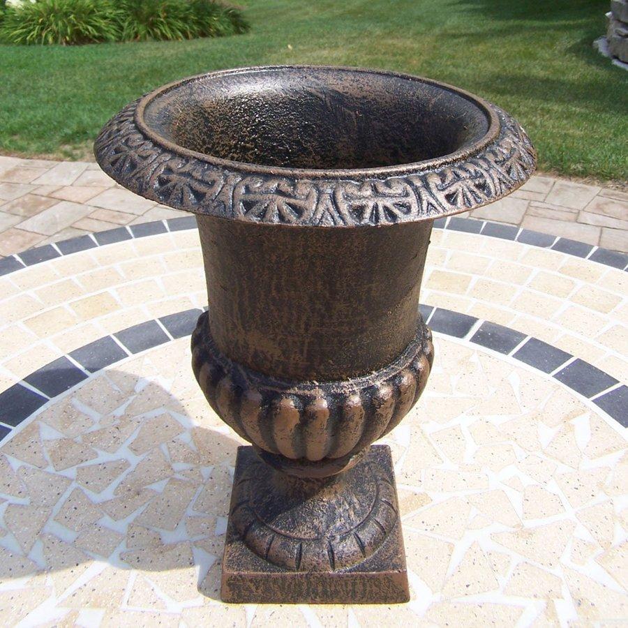Oakland Living 9.5-in x 12.25-in Antique Bronze Metal Roman Urn