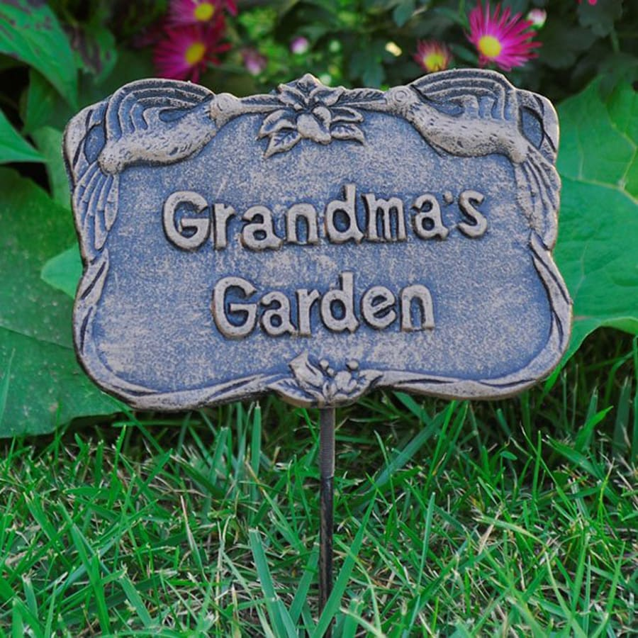 Oakland Living Grandma's Garden 15.5-in Antique Bronze Metal Sign