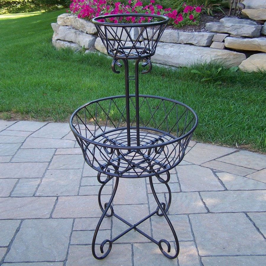 Oakland Living 40-in Black Round Cast Iron Plant Stand