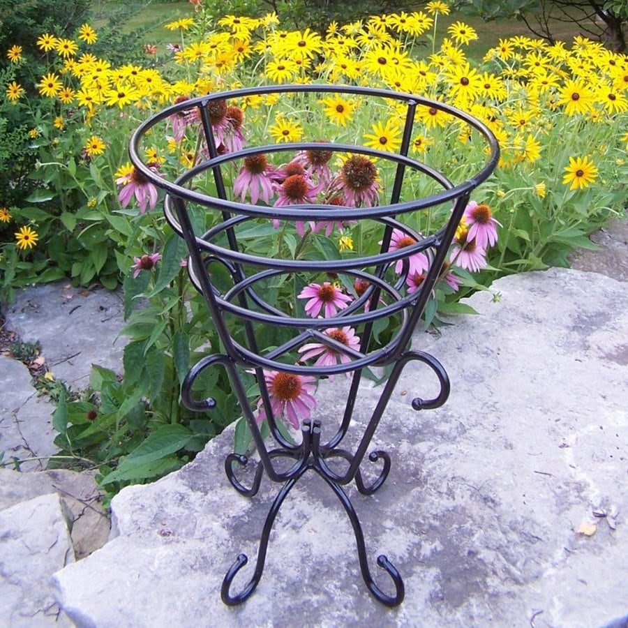 Oakland Living 25-in Black Round Cast Iron Plant Stand