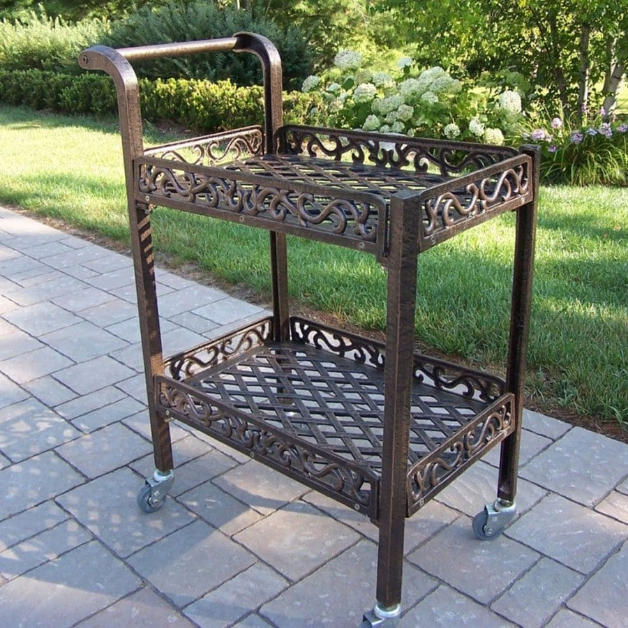 Oakland Living Mississippi Aluminum Outdoor Serving Cart