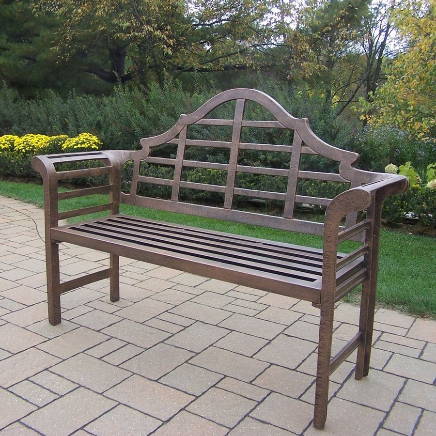 Oakland Living King Louis 22-in W x 63-in L Aluminum Patio Bench