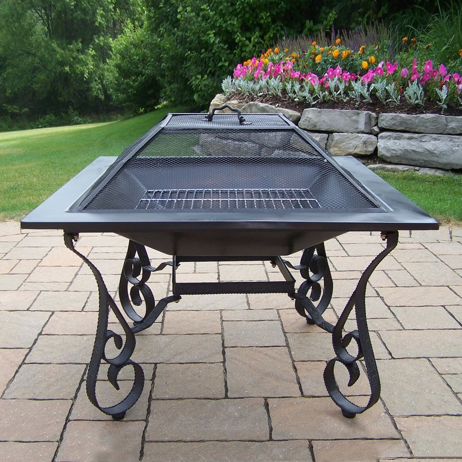 Oakland Living 33-in W Black Cast Iron Wood-Burning Fire Pit