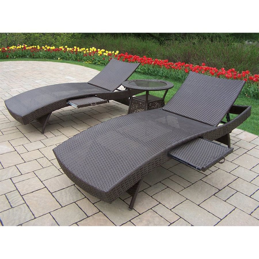 Oakland Living Elite Resin Wicker 3-Piece Wicker Patio Conversation Set