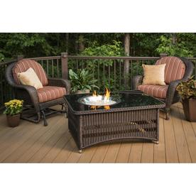 Outdoor Greatroom Company 48 In W 60000 BTU Mocha Wicker Liquid Propane Fire  Table