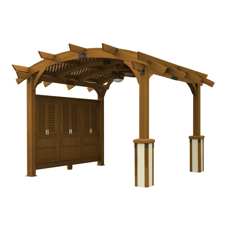 Outdoor Greatroom Company Sonoma 151-in W x 185-in L x 112-in Redwood Freestanding Pergola